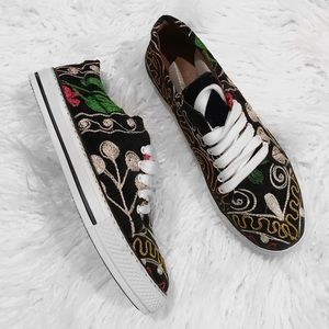 Shoes - NEW Turkish Suzani Embroidered Tennis Shoes